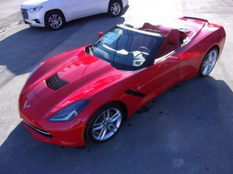 Torch Red Chevrolet Corvette Stingray Convertible.  Click to enlarge.