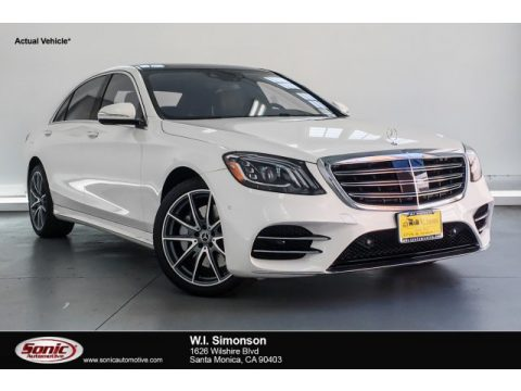 designo Diamond White Metallic Mercedes-Benz S 450 Sedan.  Click to enlarge.