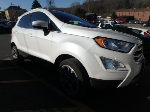 White Platinum Ford EcoSport Titanium 4WD.  Click to enlarge.
