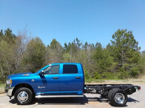 Blue Streak Pearl Ram 3500 Tradesman Crew Cab 4x4 Chassis.  Click to enlarge.
