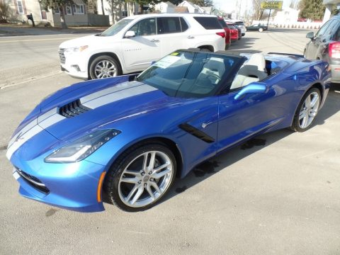 Elkhart Lake Blue Metallic Chevrolet Corvette Stingray Convertible.  Click to enlarge.