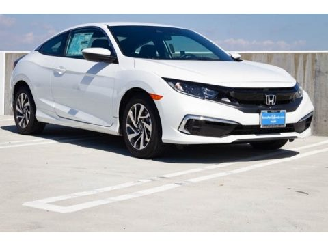 Platinum White Pearl Honda Civic LX Coupe.  Click to enlarge.