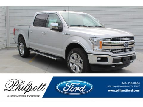 Ingot Silver Ford F150 Lariat Sport SuperCrew 4x4.  Click to enlarge.