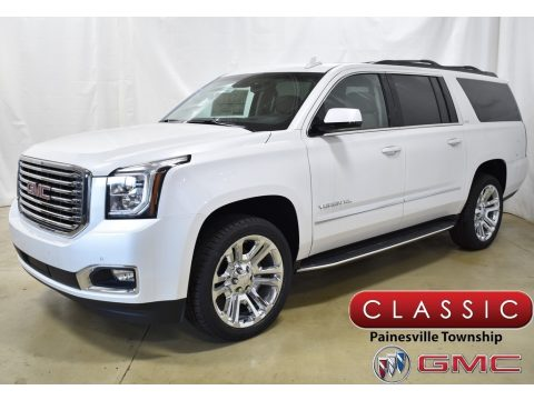 White Frost Tintcoat GMC Yukon XL SLT 4WD.  Click to enlarge.