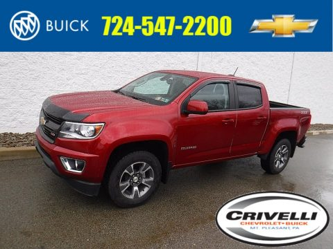Red Rock Metallic Chevrolet Colorado Z71 Crew Cab 4x4.  Click to enlarge.