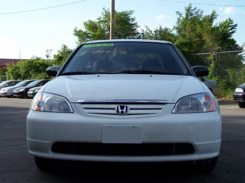 2003 Honda Civic Sedan. Taffeta White 2003 Honda Civic