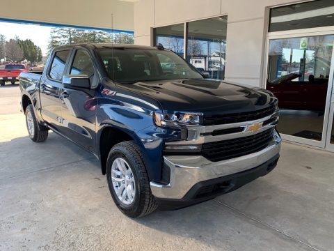 Northsky Blue Metallic Chevrolet Silverado 1500 LT Z71 Crew Cab 4WD.  Click to enlarge.