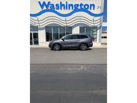 Modern Steel Metallic Honda Pilot Touring AWD.  Click to enlarge.
