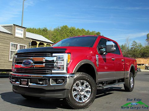 Ruby Red Ford F250 Super Duty Lariat Crew Cab 4x4.  Click to enlarge.