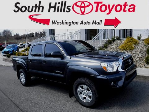 Magnetic Gray Metallic Toyota Tacoma V6 Double Cab 4x4.  Click to enlarge.