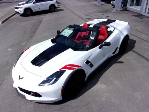 Arctic White Chevrolet Corvette Grand Sport Convertible.  Click to enlarge.