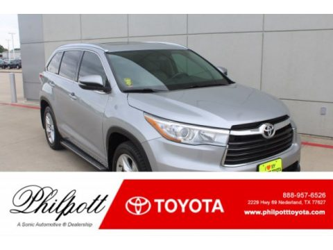 Silver Sky Metallic Toyota Highlander Limited.  Click to enlarge.