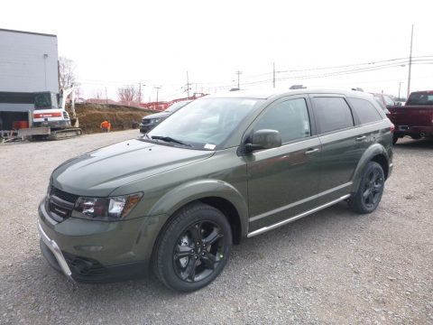 Olive Green Pearl Dodge Journey Crossroad AWD.  Click to enlarge.
