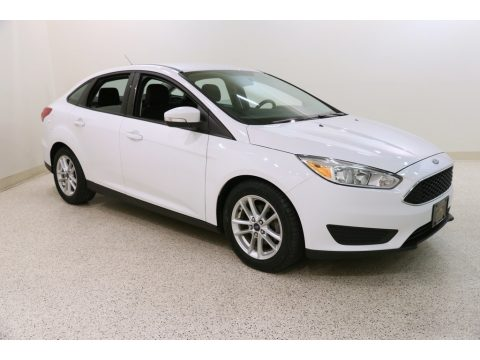 Oxford White Ford Focus SE Sedan.  Click to enlarge.