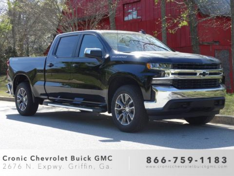 Black Chevrolet Silverado 1500 LT Crew Cab 4WD.  Click to enlarge.