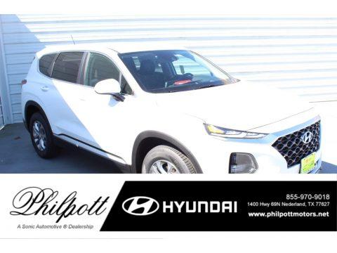 Quartz White Hyundai Santa Fe SE.  Click to enlarge.