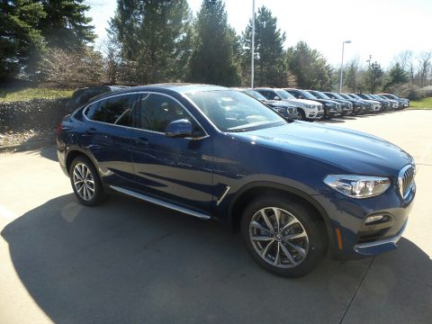 Phytonic Blue Metallic BMW X4 xDrive30i.  Click to enlarge.