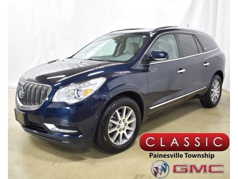 Dark Sapphire Blue Metallic Buick Enclave Leather AWD.  Click to enlarge.