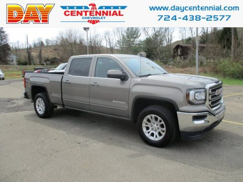 Pepperdust Metallic GMC Sierra 1500 SLE Crew Cab 4WD.  Click to enlarge.