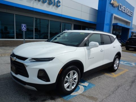 Summit White Chevrolet Blazer 3.6L Leather AWD.  Click to enlarge.