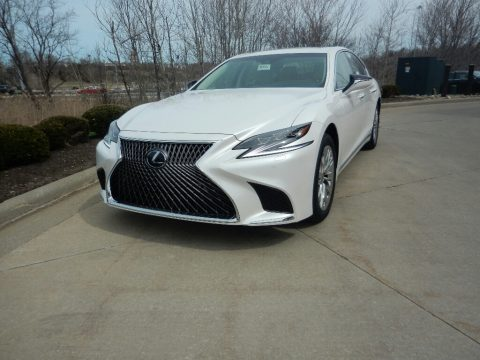 Eminent White Pearl Lexus LS 500h AWD.  Click to enlarge.