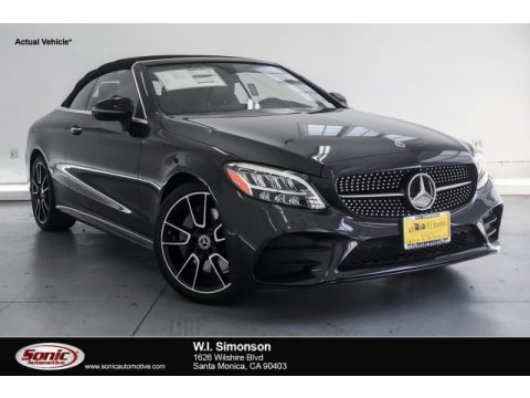 Graphite Grey Metallic Mercedes-Benz C 300 Cabriolet.  Click to enlarge.