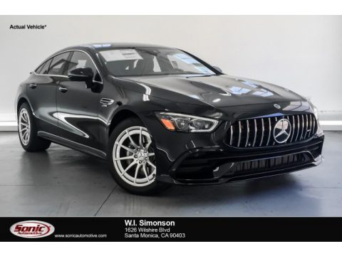 Obsidian Black Metallic Mercedes-Benz AMG GT 53.  Click to enlarge.