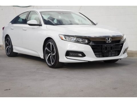 Platinum White Pearl Honda Accord Sport Sedan.  Click to enlarge.