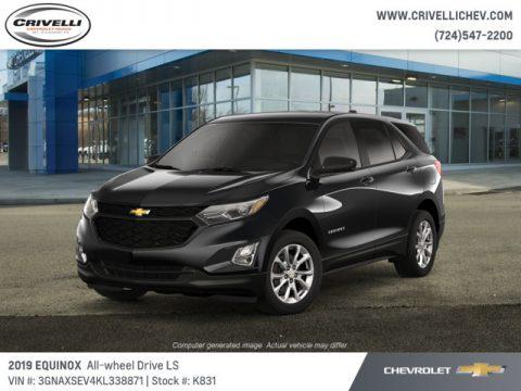 Mosaic Black Metallic Chevrolet Equinox LS AWD.  Click to enlarge.