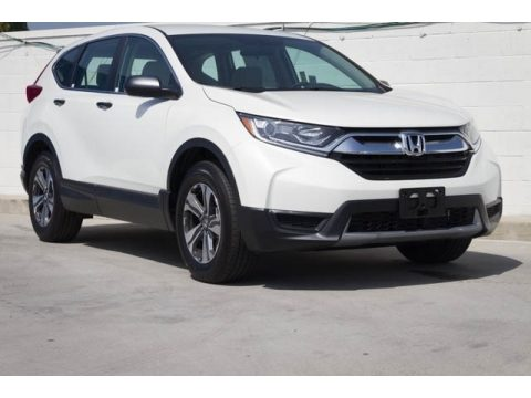 Platinum White Pearl Honda CR-V LX.  Click to enlarge.