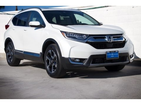 Platinum White Pearl Honda CR-V Touring.  Click to enlarge.