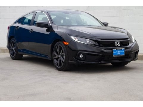 Crystal Black Pearl Honda Civic Sport Sedan.  Click to enlarge.