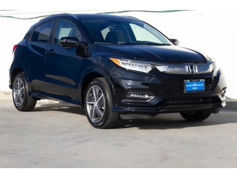Crystal Black Pearl Honda HR-V Touring AWD.  Click to enlarge.