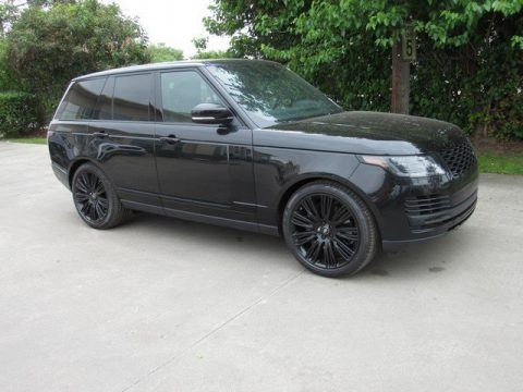Santorini Black Metallic Land Rover Range Rover Supercharged.  Click to enlarge.