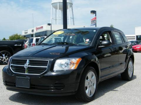 Brilliant Black Crystal Pearl 2007 Dodge Caliber SXT with Pastel Slate Gray