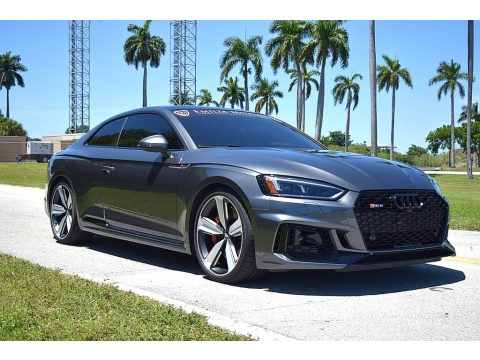 Daytona Gray Pearl Audi RS 5 2.9T quattro Coupe.  Click to enlarge.