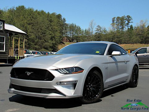 Ingot Silver Ford Mustang GT Fastback.  Click to enlarge.