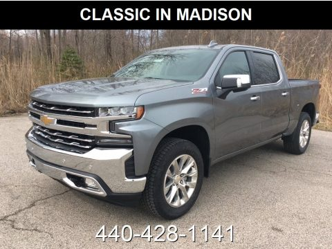 Satin Steel Metallic Chevrolet Silverado 1500 LTZ Crew Cab 4WD.  Click to enlarge.