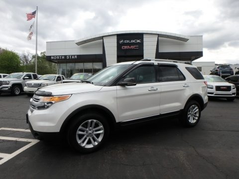 White Platinum Tri-Coat Ford Explorer XLT 4WD.  Click to enlarge.