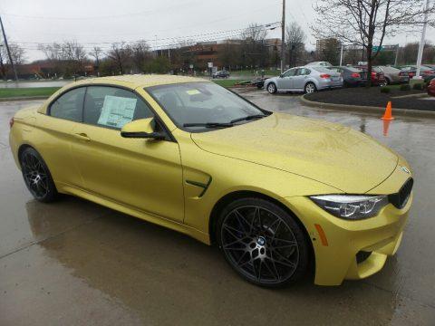 Austin Yellow Metallic BMW M4 Convertible.  Click to enlarge.