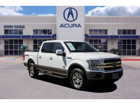 White Gold Ford F150 King Ranch SuperCrew 4x4.  Click to enlarge.