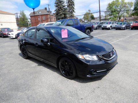 Crystal Black Pearl Honda Civic Si Sedan.  Click to enlarge.