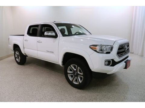Super White Toyota Tacoma Limited Double Cab 4x4.  Click to enlarge.