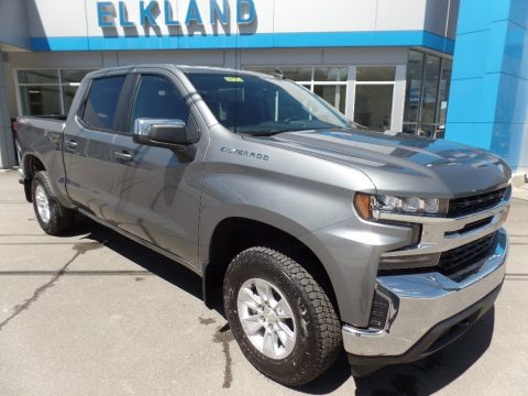 Satin Steel Metallic Chevrolet Silverado 1500 LT Crew Cab 4WD.  Click to enlarge.