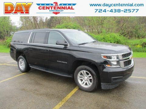 Black Chevrolet Suburban LT 4WD.  Click to enlarge.