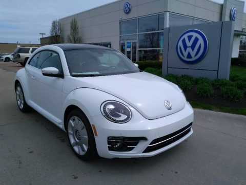 Pure White Volkswagen Beetle SE.  Click to enlarge.
