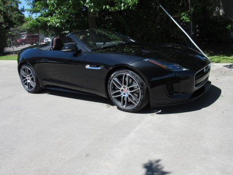 Santorini Black Metallic Jaguar F-TYPE R-Dynamic Convertible.  Click to enlarge.