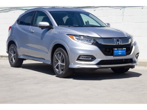Lunar Silver Metallic Honda HR-V Touring AWD.  Click to enlarge.