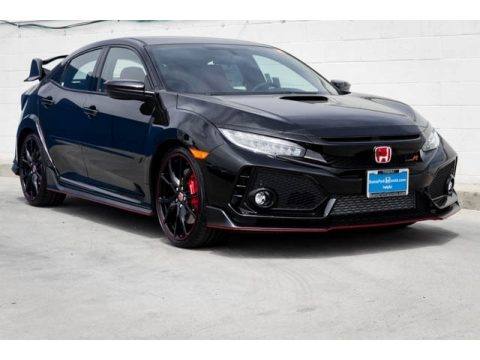 Crystal Black Pearl Honda Civic Type R.  Click to enlarge.