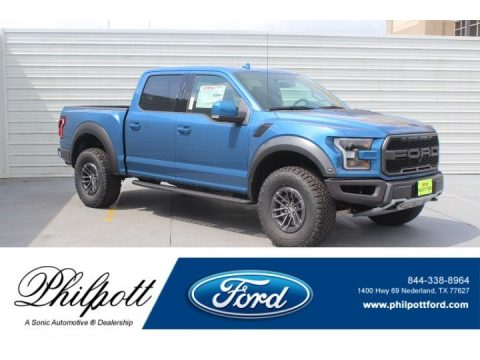Performance Blue Ford F150 SVT Raptor SuperCrew 4x4.  Click to enlarge.
